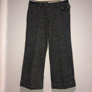 Anthropologie- Elevenses Tweed Wide Leg Crop Pants